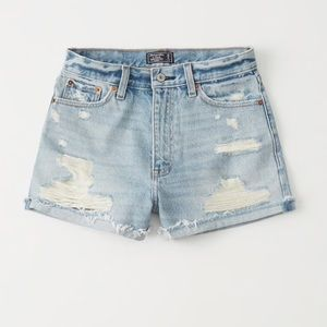 NWT Light Wash Abercrombie Jean Shorts